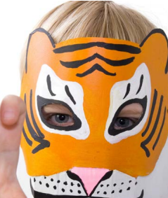 kid with tiger mask