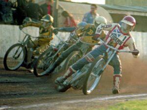 Speedway riders at Coatbridge in 1977