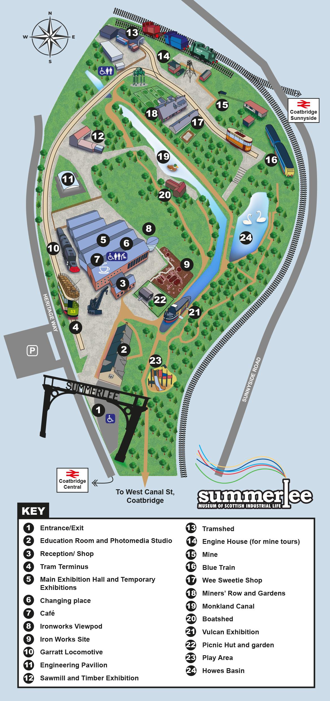 Summerlee Site Map